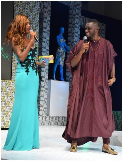 AFWN Presenters - Emmanuel Ikubese (Mr Nigeria) and Mercy Ajisafe (Omo London)