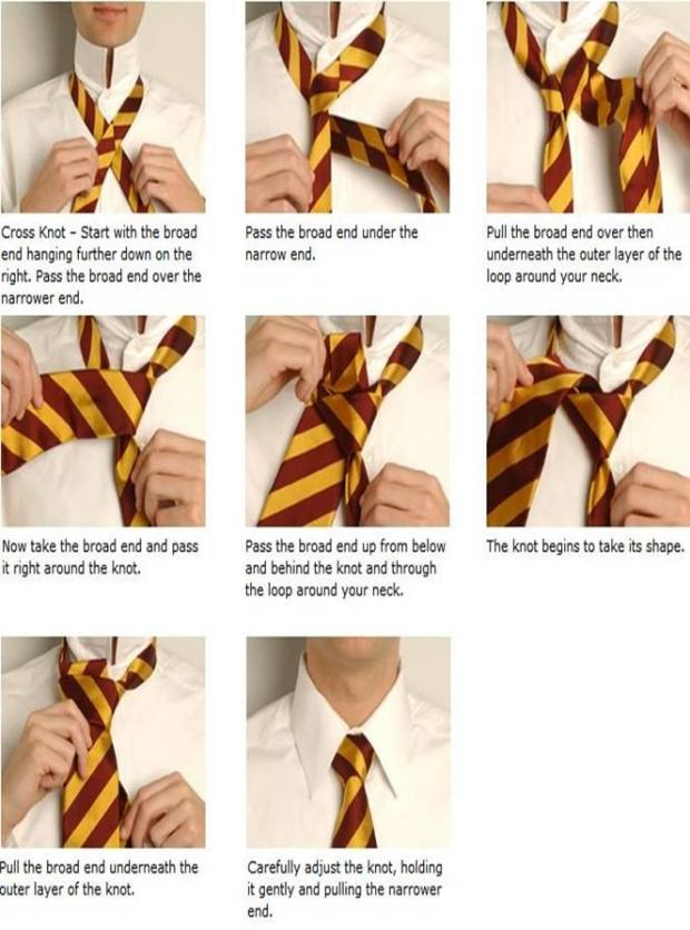 how to knot a tie