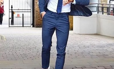 suits and sneakers