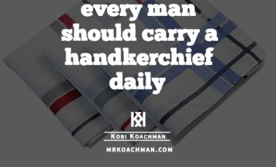 reasons to carry a handkerchief