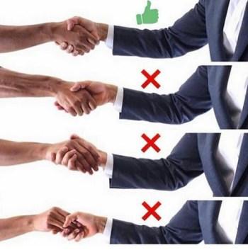 proper handshake etiquette
