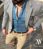 denim shirt layered button down mr koachman
