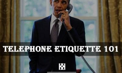 proper telephone etiquette