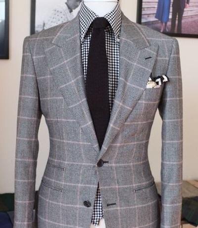 light gray suit