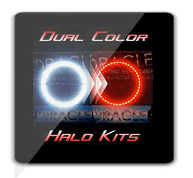 Dual Color Chrysler 300C Headlight Halo Kit Red White