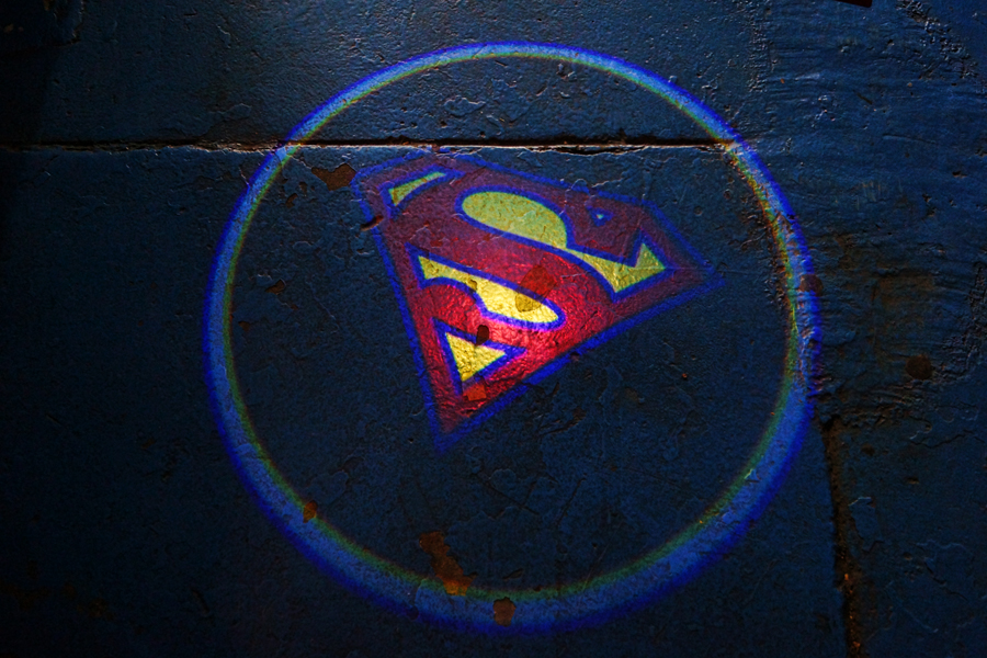 Superman Door Projector Lights