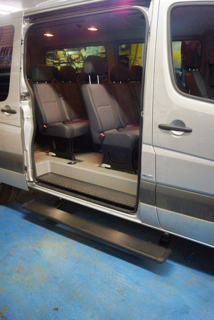 Mercedes Benz Sprinter Electric Side Steps Running Boards