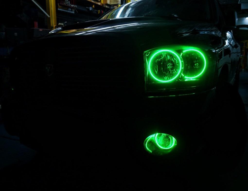 2006 Dodge Ram Multi Color Oracle Halo Headlights