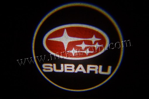 Subaru LED Courtesy Logo Projector Lights Red