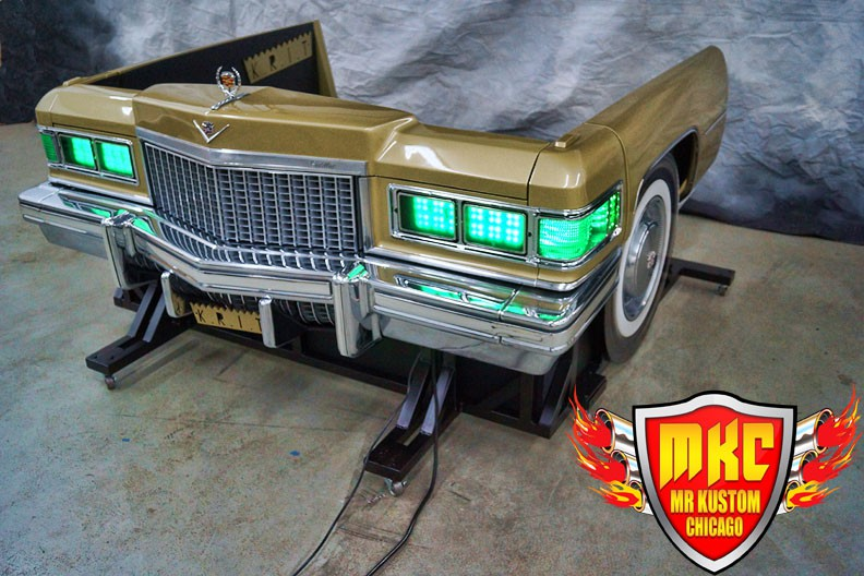 1975 Cadillac Deville Big Krit DJ Booth Green Headlights