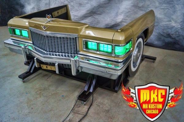 1975 Cadillac Deville Big Krit DJ Booth Green Headlights