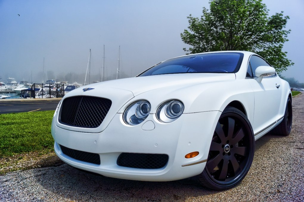Bentley Continental Matte White Wrap 2005