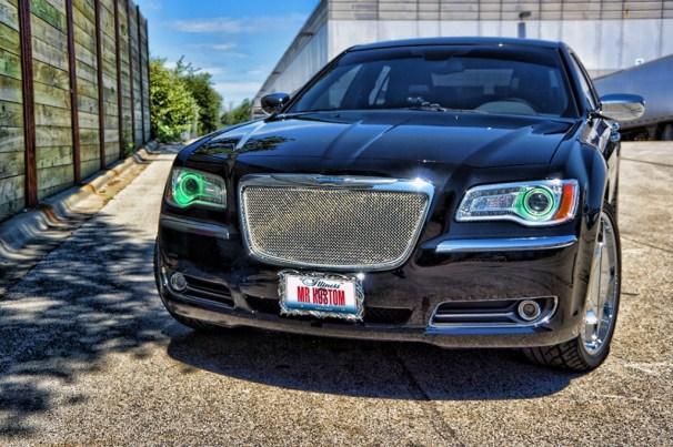 Multi Color Halos Chrysler 300 Green Halos 2012