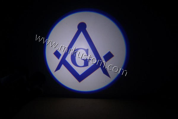 Masonic Mason LED Door Projector Courtesy Puddle Logo Light