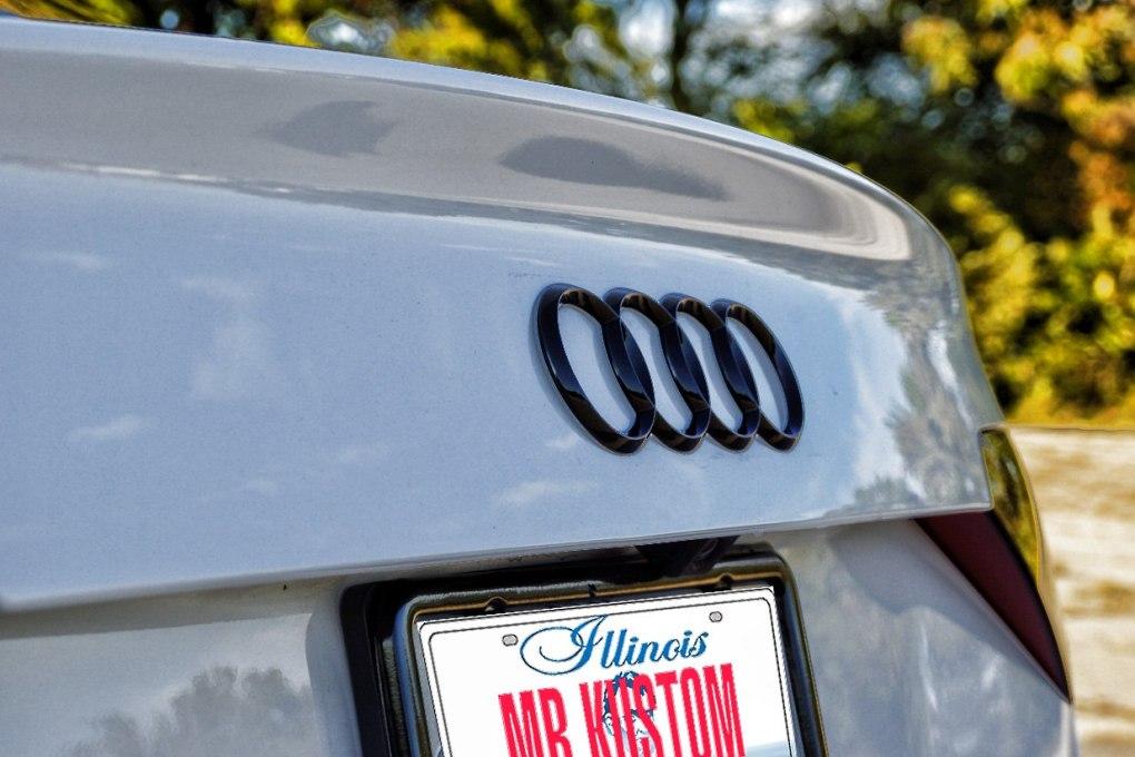 Blacked Out Audi Logo