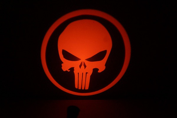 Punisher Skull LED Door Projector Courtesy Puddle Logo Light