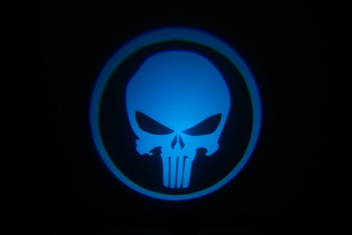 Punisher Skull Blue Door Projector Lights