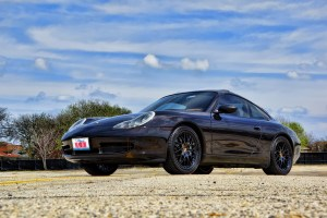 POwder Coated Black Rims Porsche 996 911