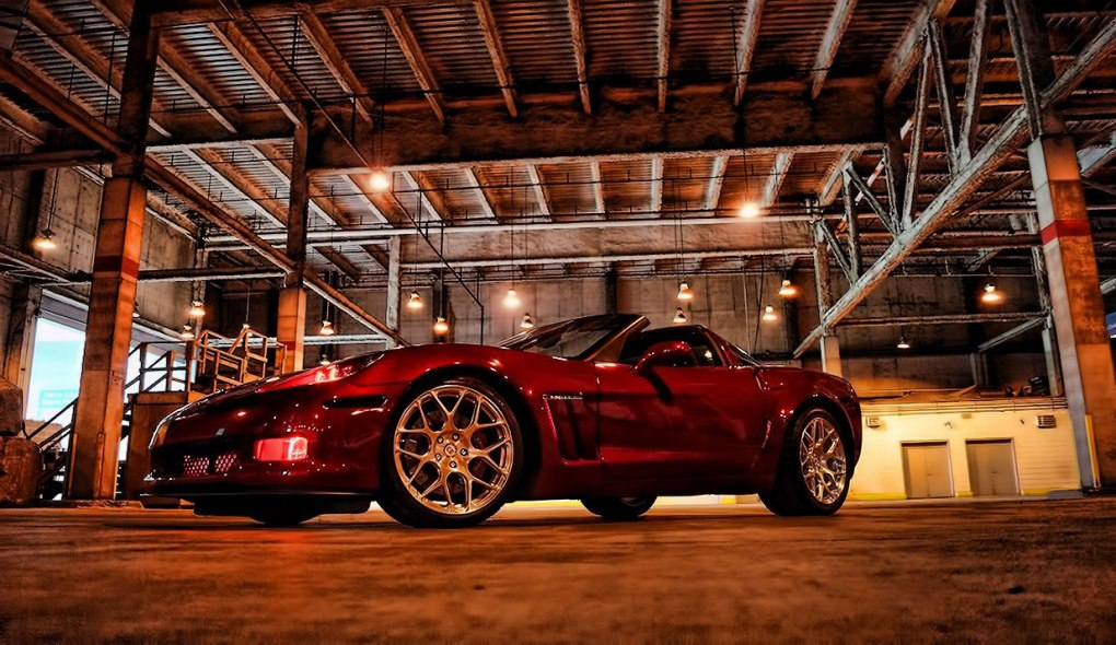 Custom Corvette Halo Headlights and Fog Lights