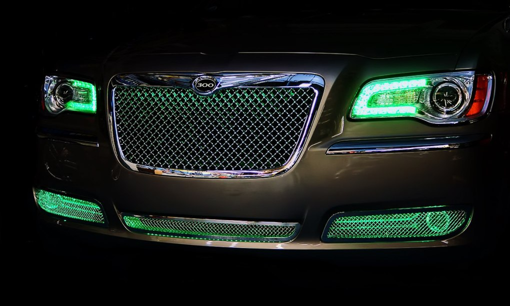 Green Chrysler 300 Oracle Halo Lights