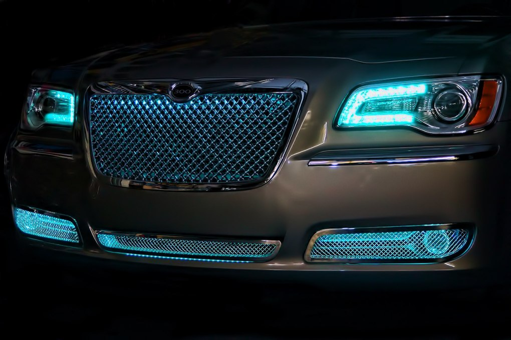 Teal Green Chrysler 300 Oracle Halo Headlights