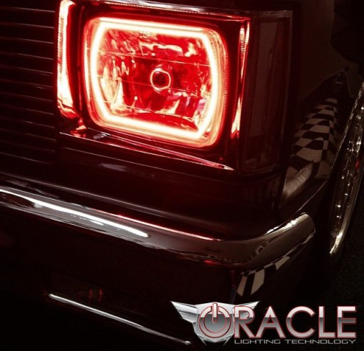 Pre-Installed Halo Lights Sealed Beam 7x6""