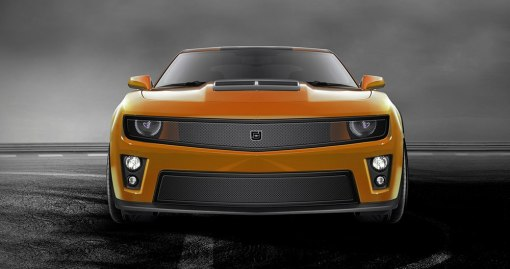 Phantom mesh grille Lower bumper grille for 2012-2015 Chevrolet Camaro fits Zl1 models (Matte black finish)