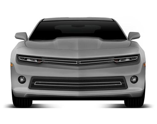 Phantom hidden headlight grille Lower bumper grille for 2014-2015 Chevrolet Camaro fits V6 models (Matte black finish)