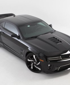 Tomahawk Hood Vent Grille for 2010-2013 Chevrolet Camaro fits All Except Zl1 models (Gloss black finish)