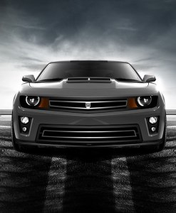 Phantom urban edition grille Lower bumper grille for 2010-2013 Chevrolet Camaro fits V6 models (Matte black finish)