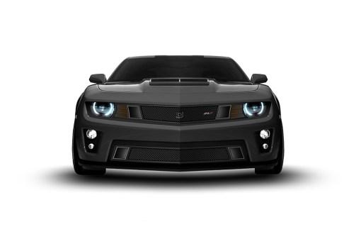 GT Strada Lower bumper grille for 2012-2015 Chevrolet Camaro fits Zl1 models (Matte black finish)