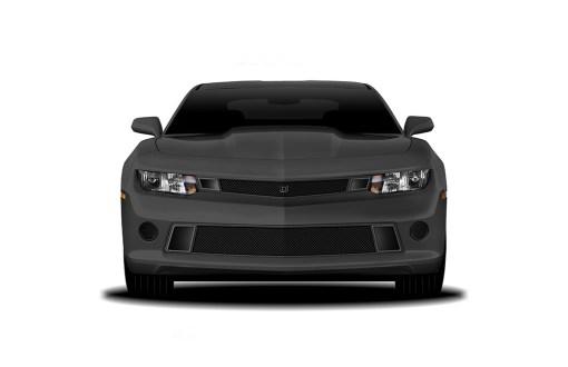 GT Strada Lower bumper grille for 2014-2015 Chevrolet Camaro fits V8 models (Matte black finish)