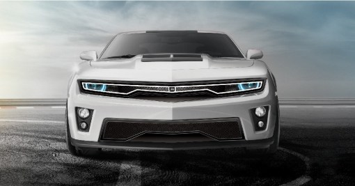 Predator Hidden Headlight Grille Lower bumper grille for 2010-2013 Chevrolet Camaro fits V6 models (Matte black finish)