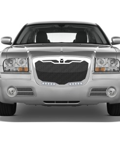 Macaro Primary Grille for 2004-2010 Chrysler 300 fits All models (Matte black finish)