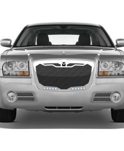 Macaro Primary Grille for 2004-2010 Chrysler 300 fits All models (Matte black finish)