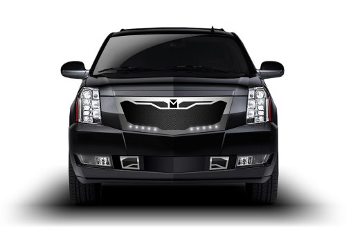Macaro Lower bumper grille for 2007-2014 Cadillac Escalade fits Will Not Fit Premium And Platinum Edition models (Triple Chrome finish)
