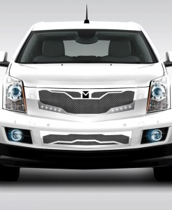 Macaro Lower bumper grille for 2010-2014 Cadillac SRX fits All models (Triple Chrome finish)