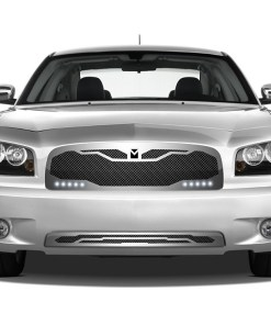 Macaro Lower bumper grille for 2005-2010 Dodge Charger fits All models (Matte black finish)