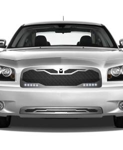 Macaro Lower bumper grille for 2005-2010 Dodge Charger fits All models (Matte black finish)
