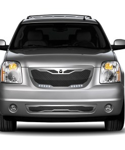 Macaro Lower bumper grille for 2007-2014 Gmc Yukon/ Denali fits All Except Hybrid models (Triple Chrome finish)