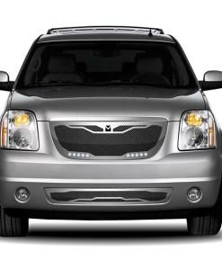 Macaro Lower bumper grille for 2007-2014 Gmc Yukon/ Denali fits All Except Hybrid models (Triple Chrome finish)