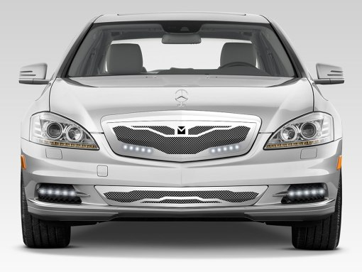 Macaro Lower bumper grille for 2007-2009 Mercedes Benz S550 fits All Except Amg Sport models (Matte black finish)