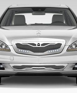 Macaro Lower bumper grille for 2010-2013 Mercedes Benz S550 fits All models (Matte black finish)