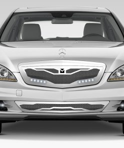 Macaro Lower bumper grille for 2010-2013 Mercedes Benz S550 fits All models (Polished finish)