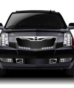 Macaro Fender Grilles for 2007-2014 Cadillac Escalade fits All models (Triple Chrome finish)