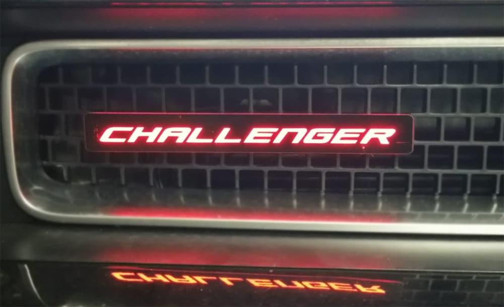 dodge challenger light up emblem Dodge Challenger Multi-Color Led Lighted Grill Emblem / Remote Control