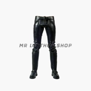 Black Tight Leather Pants
