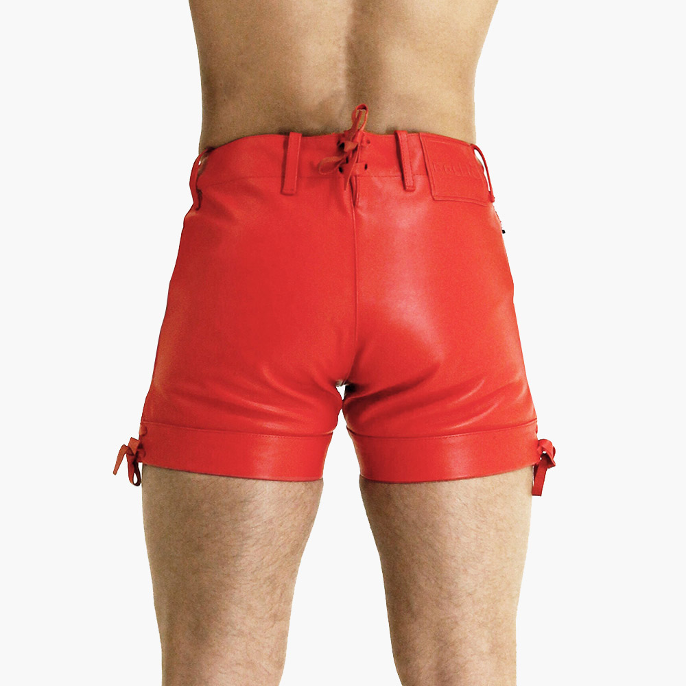 Mens-Red-Leather-Shorts-v1