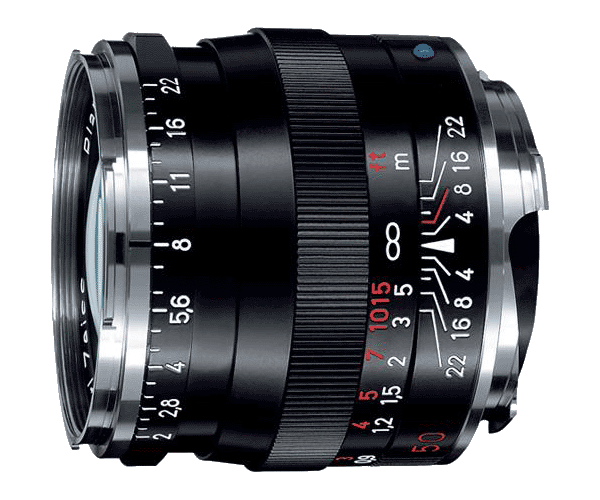 Zeiss Planar 50 f2 ZM side of lens photo