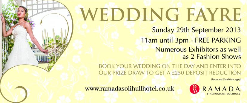 Ramada Solihul Hotel Wedding Fayre